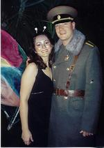Who knew that Butterflies were attracted to Russian soilders?  Libby and Steve (engaged to be married in March of 2003)