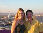 Jean and Dustin on top of the world!  Or on top of the Rio, overlooking the Vegas Strip.