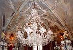 A chandelier made completely of human bones.  In the Czech Republic, crystal is out!