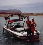 Cherie and Greg, the happy couple, happy campers, and now happy boaters.
