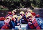 There is a reason we all have helmets on...the reason is class 5 rapids.