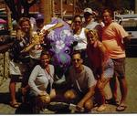 "The whole gang around a purple-painted Buffalo in Avalon.  As far as I know, no one ate a ""Buffalo Burger."""