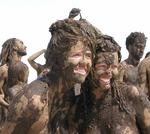 Jean and Cherie.  Isn't mud supposed to be good for your skin?