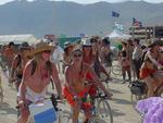 "The ""Critical Tits"" bike ride where thousands of women ride through the desert with decorated breasts!"