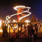 One more fire-dancer, just because they are so cool.