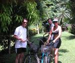 Doug, Greg and I on an exploration bike ride.  Cruiser bicycles cost $1 an hour to rent, mountain bikes cost $2 an hour.