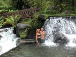 Greg and I in the hot springs at Tabacon Resort.