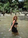 "The only way to get into the Costa Rican park ""Manuel Antonio"" is to wade through the entrance."