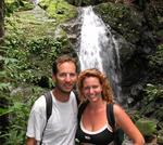"Greg and I in front of a waterfall at ""Manuel Antonio""."