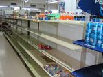 The shelves of supermarkets have been virtually empty since the Americans left Panama in 1999.