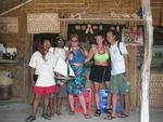 "Anne, Cherie, Greg and two ""guides"" who showed us around three different islands."
