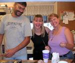 The kitchen crew (Jim, Maria and Marsha.)