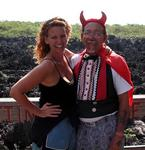 "Cherie with the ""official Devil of Hell""--Ivan."
