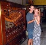 Cherie and Greg dance to the organ music.