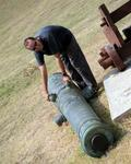 Greg's certain that he can lift this cannon.