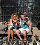 Cherie and Stan with their fowl friends.
