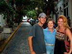 Greg, Joanne and Cherie shopping on the cobble-stone streets of Old San Juan. *Photo by Stan.