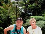 Stan and Joanne in the rainforest.