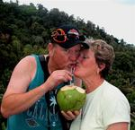 True love is sharing a coconut.