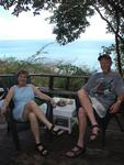 Joanne and Stan on the balcony of our A-frame rental property in Culebra.