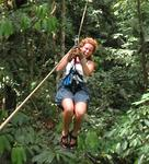 Swinging through a Costa Rican rain forest.