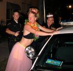"A cop tries to bust up the party; Cherie and Jean get ""frisked."""