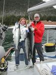 Cherie and Greg with their King Salmon.  *Photo by Rick