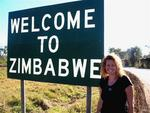 Welcome to Zimbabwe...crossing over the boarder.