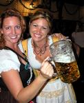 Big beers and big fun at Oktoberfest in Huntington Beach, Ca.