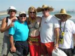 Jean with the crew of Shaka: Stacey, Ray, Lee and Dave.