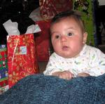 Blake loves his first Christmas.