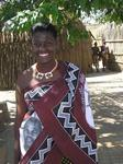 Annette dressed up like a Swazi.