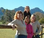 Four ladies (Cherie, Renee, Carter and Kristi) head to Stellenbosch to taste South Africa's finest wines. *Photo by Dom