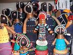 Zulu beaded dolls.