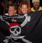 "4 Play ""pirates"" Luke, Cherie and Joe celebrate their success."
