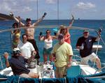 The crew of 4 Play at the St. Croix Regatta.