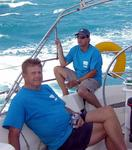 Papa Otis sails with his son Phil for the 1st time in the Heineken Regatta.