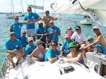 The crew of BVI YC1, a Beneteau 45f5.