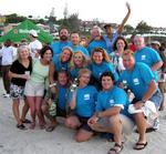 "Team ""BVI YC1"" with friends and family."
