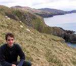 Drew feels at peace in the rugged Irish landscape.