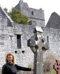 Cherie and a celtic cross.