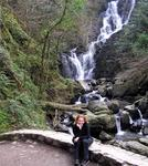 Cherie and the waterfall.