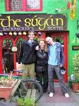 Drew, Cherie and Enrico at our hostel in Killarney.