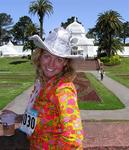 Cherie does the 7-mile Bay-to-Breakers race through the streets of San Francisco on May 16, 2004.