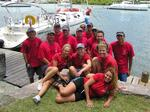 The BVI Yacht Charters crew in our red shirts.