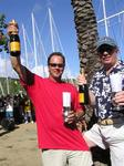 Phil (Carnival) and Justin (Carrie On) celebrate their 1st and 2nd place wins at ASW in the Bareboat 3 Class.