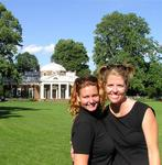 Cherie and Jean in front of Monticello, Thomas Jefferson's house.