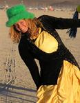 "I put on a green fuzzy hat with a yellow ballroom gown and no one asked: ""What are you?""  At Burning Man, it doesn't matter."