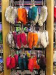 "In Mercer, you can still buy the ""lucky rabbit foot key-chain"" in a wide-assortment of disgusting colors."