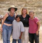 The 3 ladies and our Supai guide.